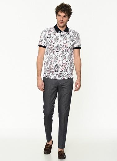 George Hogg Erkek 7004656 Slim Fit Tshirt Beyaz